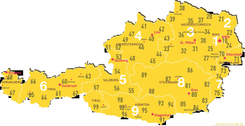 Plz Karte Schweiz.Postleitzahlenkarte österreich