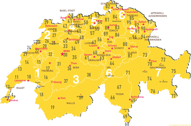 Plz Karte Deutschland Kostenlos Download.Postleitzahlenkarte Schweiz