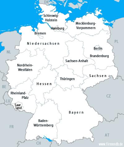 Deutschland Karte Bundesländer Schwarz Weiß.Deutschland Adressen Firmenverzeichnis